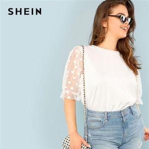Shein sheer sleeve t-shirt